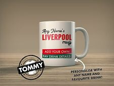 Liverpool Personalised Mug Secret Santa, Football Gift Idea T-Shirt Tommy