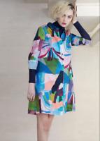 🍄  Gorman Megan Grant Shirt Swing Curve Cotton Dress size 12/14  L🍄