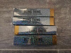 MAC Bling Thing BNIB Liquid Lip Colour Like It Like This Gold Bronze Shimmer x4