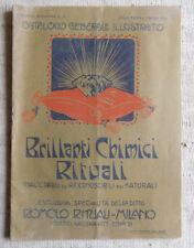 Brillanti chimici ditta Romolo Rituali catalogo generale illustrato 1916