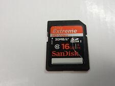 Genuine OEM SanDisk 16GB Extreme SDHC I Memory Card - Class 10 - 30 MB/s