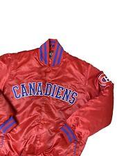 Vintage Montreal Canadiens Satin Bomber Jacket Size Medium NHL