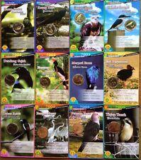 Malaysia Coin Card - 2005 Endangered Birds Complete set No 1 to 12