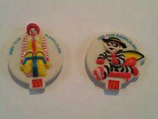 1988 Team McDonaldland Promotional Olympic Buttons Ronald McDonald Hamburglar