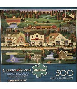 CHARLES WYSOCKI 500 PIECE JIGSAW PUZZLE Americana Yankee Wink Hollow New