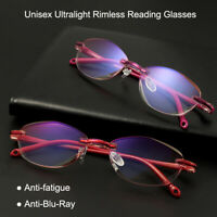 Presbyopia Eyeglasses Computer Goggles Unisex Reading Glasses Rimless
