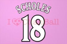 Scholes #18 1999-2002 Manchester United CL Homekit Nameset Printing