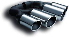 Duplex Auspuffblende Endrohr Doppelrohr Chrom Look f. VW Touareg II ( 2 ) C2