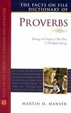 The Facts on File Dictionary of Proverbs (Facts on File Library of Language and