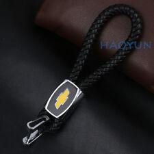 Car Fashion Leather Keychain Zinc Alloy Key Ring Accessories Logo For Chevrolet