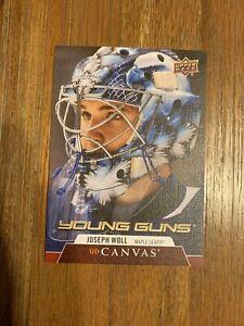 2020-21 Upper Deck Series 2 Canvas Young Guns C222 Joseph Woll - Maple Leafs