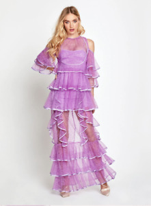 BNWT ALICE MCCALL LILAC ENDLESS RIVERS GOWN - SIZE 12 AU/8 US (RRP $595)