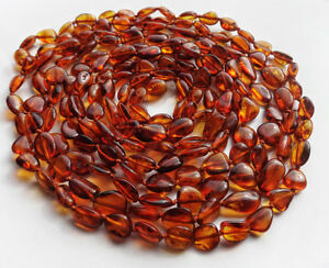 Baltic amber necklaces Red Natural - select length 13-86 inch