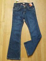TEX KIDS Fille 7 /8 ans NEUF pantalon jeans jean denim bleu TAILLE AJUSTABLE
