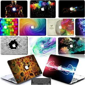 3D Colorful pattern Laptop Rubberized Hard Case Cover For New Macbook Pro Air