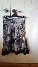 Didier Parakian grey and black ladies skirt size 38 French designer