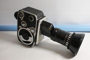 Vintage Retro Bolex P2 Zoom Reflex Movie Camera with Som Berthiot Pan-Cinor Lens