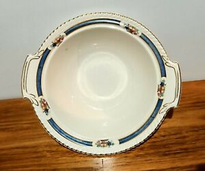 Johnson Brothers Old English blue and gold banding with basket with fruit tabbed