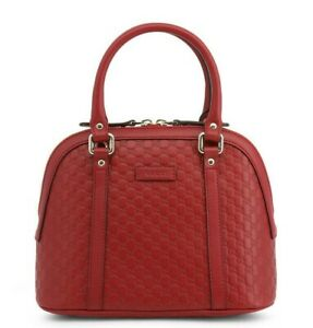 GUCCI GG Dome Satchel Shoulder Bag Leather in Red Style 449654 BMJ1G 6420