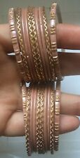 💖SALE!2 SETS!GIRL 20 PINK/GOLD/BANGLES WITH PATLA BOLLYWOOD INDIAN PAKISTANI