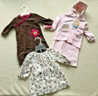NWT! Lot 3 Precious Baby Girl Outfits; 0-6 mos; Carter's, Old Navy Just Darling