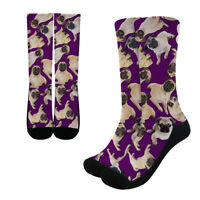 Pug Dog Funny Socks Womens Cute Non Slip Stockings Mens Over the Ankle Hosiery