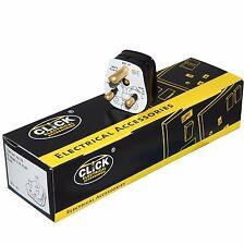 Box of 10 Click Black 5 Amp Round Pin Plug - PA176