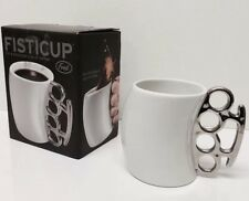NEW AUTHENTIC FRED AND FRIENDS FISTICUP FISTI CUP COFFEE MUG BRASS KNUCKLES NIB