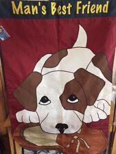 "Decorative flag ""Man's Best Friend"" (Dog) 21083 ~ 28""x 44""~New"
