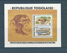 Togo bloc  animaux en danger   de 1977   num:  107  **