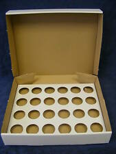 Cup cake box white heavy duty holds 24 cup cakes