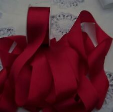 "100% PURE SILK RIBBON~RUBY~ COLOR  1 1/2""[36MM] WIDE  5 YARDS"