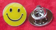 Smiley Face Lapel Pin Badge Happy Smile Emoji Symbol Brooch