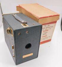 Rare Boxed - Ansco No.2A Special - 116 Film Box Camera - Spanish Blue
