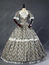 Victorian Belle Little House Prairie Dress Floral Ball Gown Reenactment 168 S