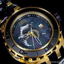 Invicta Subaqua Specialty Dragon Black MOP Automatic Gold Tone 52mm Watch New