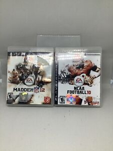 Madden NFL 12 (Sony PlayStation 3, 2011) With NCAA Football 10