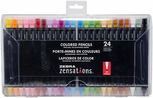 Zebra Zensations Colored Pencils 24/Pkg-Assorted, 08124