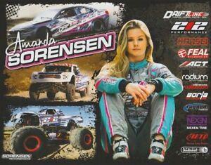 2020 Amanda Sorensen BMW Formula Drift Trophy Truck Monster Truck Hero Card