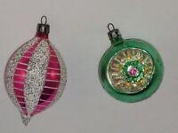 Poland Indent Glass Christmas Ornament Vintage Decoration Antique 1950's