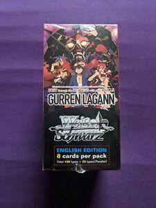 Weiss Schwarz Gurren Lagann English Booster Box, New and Sealed