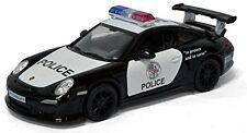 "5"" Kinsmart Diecast Porsche 911 GT3 RS Police Car 1:36 cop die cast KT5352DP fun"