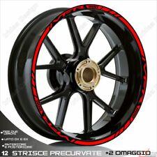 Trims Wheel Stickers Sport Honda VFR 750 800 1200 Red