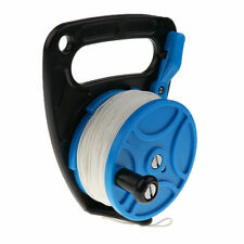 83M Scuba Diving Reel Spool with Thumb Stopper for Cave Wreck Reel 272ft Line