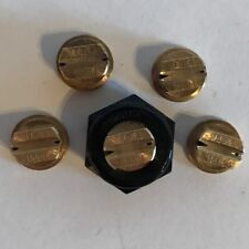 TeeJet TQ150-04 Double Outlet Spray Tip Brass Lot of 5 with Free Caps