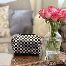 Victoria's Secret Silver & Black Checked Make Up Bag