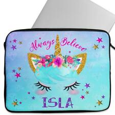 Personalised Laptop Cover UNICORN Sleeve Pretty Face Universal Case Gift KS33
