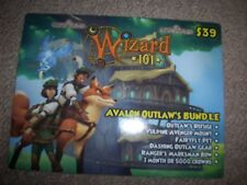 new Wizard 101 Avalon Outlaw's Bundle Game Card Crowns Outlaw's Refuge Fox Mount