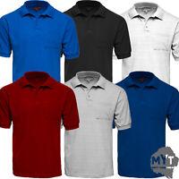 New Mens Polo Charles Norton Collar Plain Cotton Pique Ribbed T-Shirt Casual