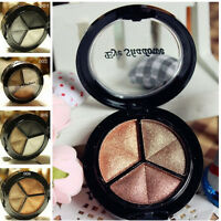 3 Colors New Eyeshadow Natural Smoky Cosmetic Eye Shadow Palette Set Make Up